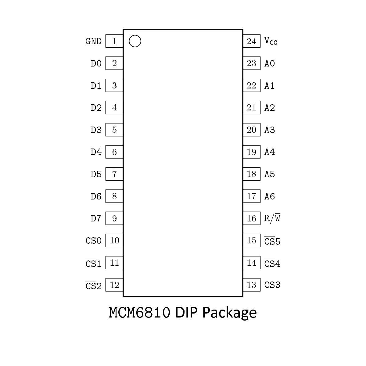 memory  motorola mcm6810ap